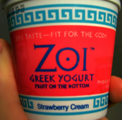 Zoi Greek Style Yogurt Strawberry